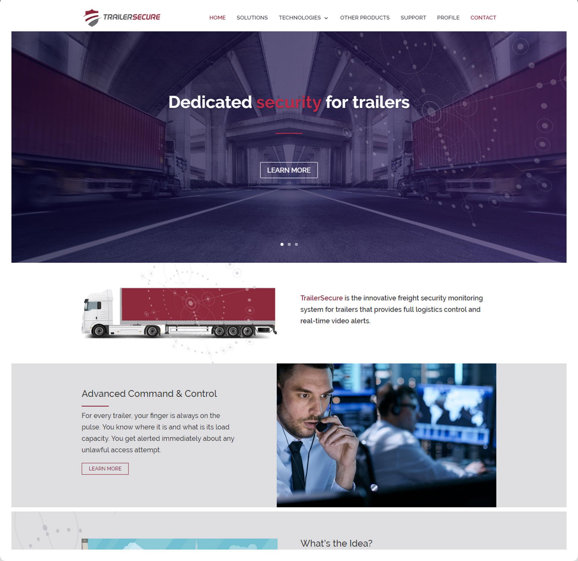 בניית אתרים - Trailer Secure